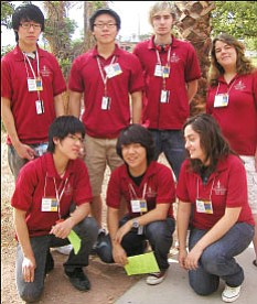 Orme Mathletes at Las Vegas Competition.<br> Courtesy Photo