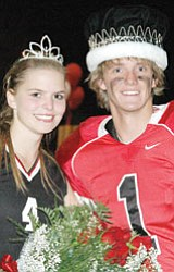 Orme Queen Tess Stumpf and Owen Foster.