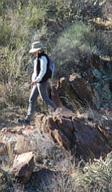 Many hikers, bikers and horse riders took advantage of nice weather to hike a portion of the Black Canyon Trail Jan. 8 after a ribbon-cutting ceremony at Black Canyon City.<br> Photo courtesy of Bruce Colbert/The Daily Courier