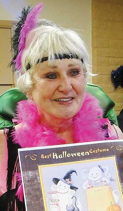 "Pam Davis won the ""Pretty Woman"" category at the event."