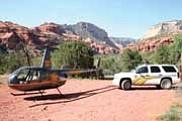 Courtesy Photo<BR> Yavapai County Sheriff's helicopter Rescue I was instrumental in finding lost hikers on June 2.