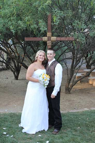 Courtesy Photo<br>Kristen Nicole Johnson and Jared James McGinty married on July 6, 2013.