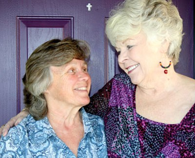 Sue Tone/BBN photo<br> Robyn Tornquist, left, and Arlene Stewart are sisters – who were separated for 56 years.