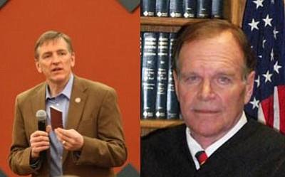 Left: Paul Gosar; Right: Bill Rummer<br> Courtesy photos