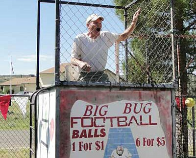 Bill Rummer in the dunk tank at the 2013 Cordes Lakes Days. (Pat Williamson/Courtesy)