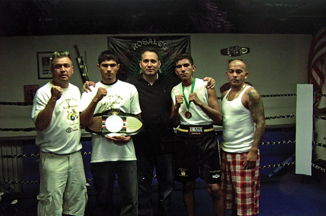 Courtesy Photo Team photo: (l-r) Richard Williams, Victor Romero, Promoter Tony Rosales, Santiago Lomeli and Juan Cortez.