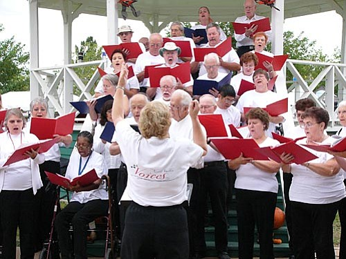 Courtesy photo<br> The Verde Valley Voices community choir, under the direction of Beverly Hall, will sing Christmas favorites at the Dec. 13 Holiday Concert.