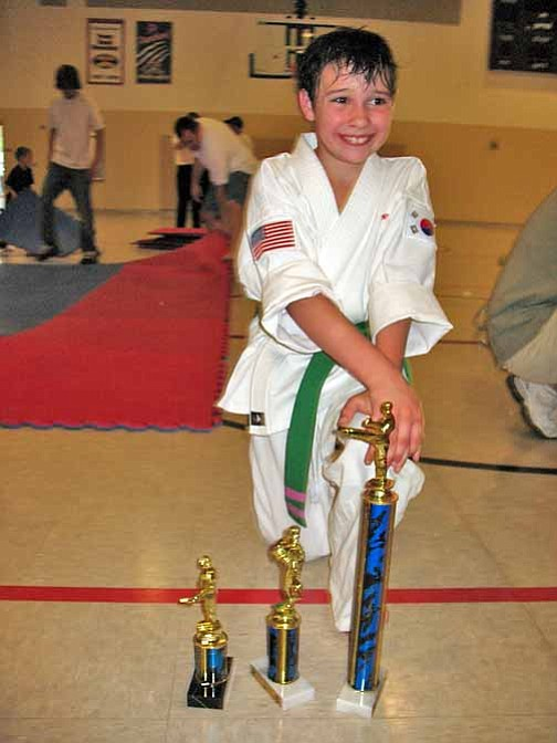 Courtesy Photo Nathaniel Wood placed 4th in Intermediate Forms, 2nd in Sparring and 1st in Bonker Sparring.