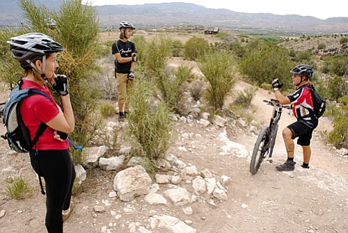 "Saturday Mountain Bike Ride June 6 Join a couple of loosely organized, fun rides around the ""Thumper Loop"" to commemorate local rider Lee Gorby's 365th consecutive day riding the local loop. Lee (aka Whiskey Rider) has ridden through ice-cold rain and blazing heat, cloudy days and sunny, every single day since June 6, 2008.  It'll be a great chance to meet a few other riders, swap stories, and discuss the recent damage on the Thumper Trail, as well as the need for new single-track in Cottonwood. Meet up at the Raptor Trailhead at the top of Roadrunner Road at Dead Horse Ranch State Park twice that day: 8 a.m. and 5 p.m. More info: (928) 301-1190."