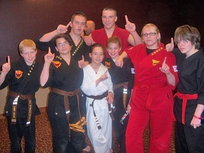Courtesy Photo<br/>The Advanced belts team from KC's Tae Kwon Do.