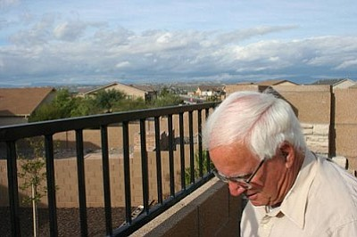 VVN/Steve Ayers<br> Camp Verde resident John Stephens lives atop one of the highest elevations in Camp Verde. However, he recently received a letter from his lender requiring him to purchase flood insurance. The mistake may or may not be related to new floodplain maps that went into effect in early September.
