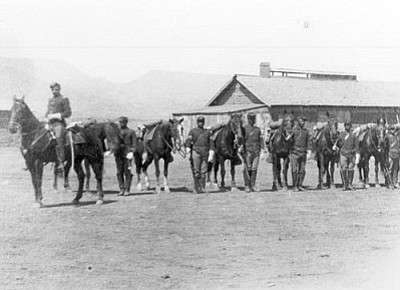 Companies I and M of the 10th Cavalry (Buffalo Soldiers), an all-African American unit, served at Fort Verde from May 1885 to December 1888, long after the Yavapai and Apache had been sent to the San Carlos Reservation. Buffalo Soldiers re-enactors will be at Fort Verde State Historic Park during the Pecan, Wine & Antique Festival on Saturday and Sunday.