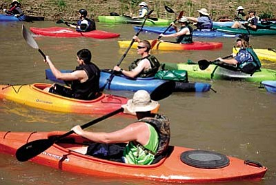 Verde River Canoe Challenge<br /><br /><!-- 1upcrlf2 -->March 26<br /><br /><!-- 1upcrlf2 -->The 11th annual Verde River Canoe Challenge will take place at 10 a.m. The ten-mile canoe/kayak race will begin at White Bridge Park (Verde River and Rte. 260) and end at Beasley Flats Recreation Area. A free shuttle service will be provided between Beasley Flats and White Bridge Park.<br /><br /><!-- 1upcrlf2 -->There will be both men's and women's Competitive and Recreational Event Categories. Trophies will be given to the first and second place winners in each category.<br /><br /><!-- 1upcrlf2 -->Online Registration deadline is March 16. The entry fee is $20 per adult and $15 per child. Fee includes Verde River Canoe Challenge t-shirt and one-day participant insurance. <br /><br /><!-- 1upcrlf2 -->Register online at www.active.com. No day of race registration. <br /><br /><!-- 1upcrlf2 -->Participant check-in is located at the White Bridge Park between 7:30 and 9:30 a.m. For more information contact: Charles Hammersley, NAU Parks and Recreation Department, Phone: (928) 523-6655, e-mail: charles.hammersley@nau.edu.<br /><br /><!-- 1upcrlf2 -->