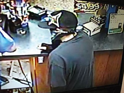 Police used this surveillance footage in the armed robbery investigation.