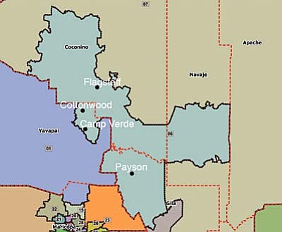 The new Legislative District 6 includes the Verde Valley as well as Flagstaff and Payson.