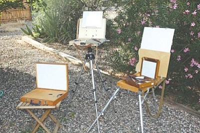how to get started in plein air painting camp verde bugle