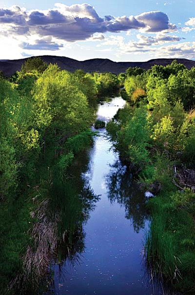 "Arizona Water Sentinels found that the upper Verde River is literally ""going with the flow"" because the base flow of the river is gradually decreasing over time, including over the last five years when the rate of decrease was about 1 cubic foot per second (cfs) per year."