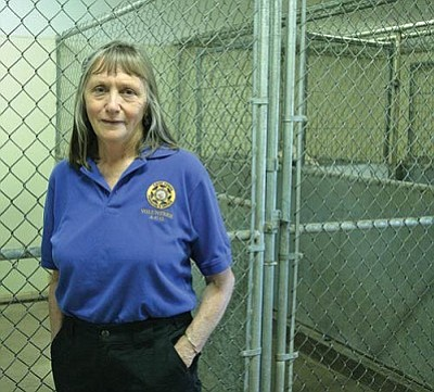 VVN/Bill Helm<br> It is rare when animal control volunteer Kathy Davis finds no dogs at the Town of Camp Verde's animal control center.