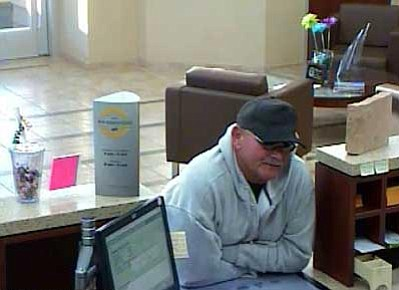 Courtesy photo<br> Footage from robbery at Chino Valley's National Bank of Arizona.