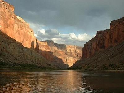 The Colorado River flows through the Grand Canyon. A federal study found that fish in the Grand Canyon and 20 other national parks in the West have trace amounts of mercury. (U.S. Geological Survey Photo)