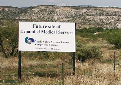 """Having a modern, accessible health care facility in Camp Verde is as much a part of the infrastructure of the community as roads, sewers and water lines,"" says Economic Development Director Steve Ayers of VVMC's plan to build a 26,500-square-foot urgent care center on Finnie Flat Road in Camp Verde. VVN/Bill Helm"