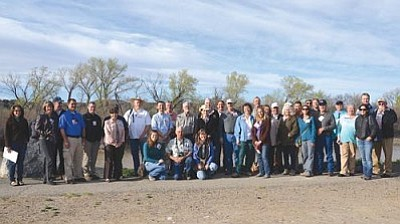 The Arizona group with the Riverfront Commission at Riverbend Park in Palisade, Colo.