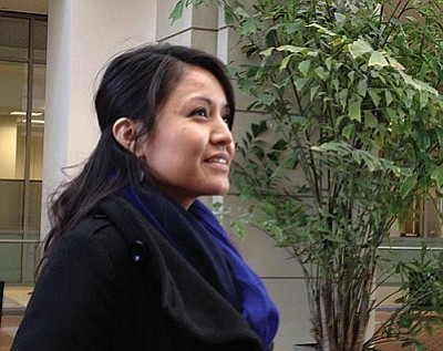 "Arizona resident Amanda Blackhorse, in a 2013 photo, was one of five people to file a challenge with the U.S. Patent and Trademark Office, arguing that the name ""Redskins"" is derogatory and cannot be trademarked. (Cronkite News Service photo by Michelle Peirano)"
