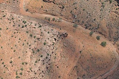 The site of the crash was in an extremely remote site on the Navajo Reservation.