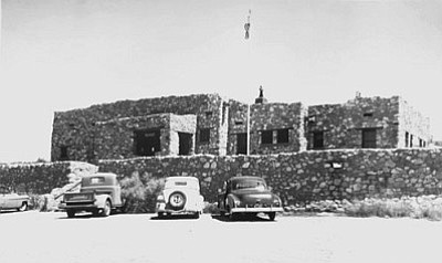 The new Tuzigoot Museum and Visitor Center in the 1930s. The site was established as a national monument on July 25, 1939, by President Franklin D. Roosevelt after extensive community collaboration and support. (NPS Image)<br /><br /><!-- 1upcrlf2 -->
