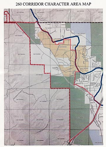 At Thursday's General Plan work session, the Town's Planning and Zoning Commission will try to reach consensus on the goals and implementation strategies for the 260 Corridor, one of 10 character areas to the plan's Land Use element. Courtesy Town of Camp Verde.