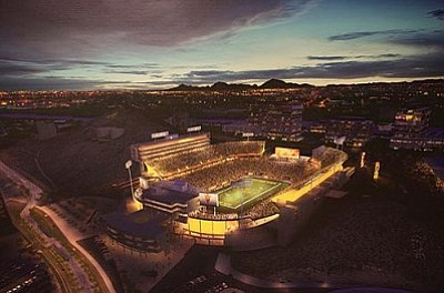 An artist's rendering of what the completed project will look like. (Arizona State University Photo)