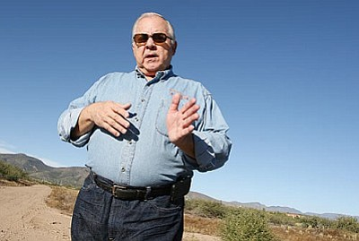 "VVAC executive director Ken Zoll says the pending acquisition of 15+ acres of Simonton Ranch in Camp Verde offers a ""much larger opportunity, an educational opportunity for both residents and visitors to learn about the pre-history of the Verde Valley."" VVN/Bill Helm"