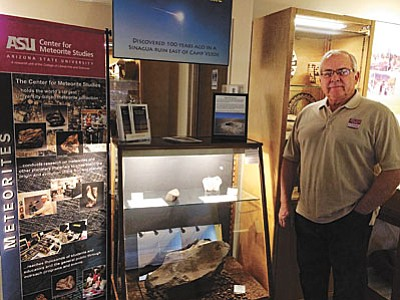 Ken Zoll, executive director of the Verde Valley Archaeology Center, will say goodbye to the Camp Verde Meteor exhibit on Aug. 31. VVN photo by Tom Tracey