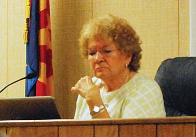 "Camp Verde Town Council member Jackie Baker said Wednesday that she could not support rescinding the special recall election because ""the voters, the citizens themselves, felt their rights were not being protected."" VVN photo by Aryssa Carvalho"
