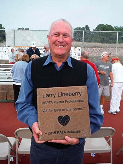 On October 25th, Sedona resident and United States Professional Tennis Association (USPTA) Master Professional, Larry Lineberry, was inducted into the inaugural class of the Tennis Park of Fame in ceremonies held at the Yavapai College Tennis Complex. (Courtesy Photo)