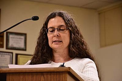 Wednesday, the Camp Verde Town Council named Teresa Helm the Town's newest Planning and Zoning commissioner. (Photo by Bill Helm)