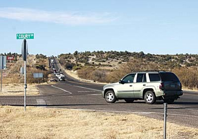 SR 260 at Steve Coury Drive, in Camp Verde. (Photo by Bill Helm)