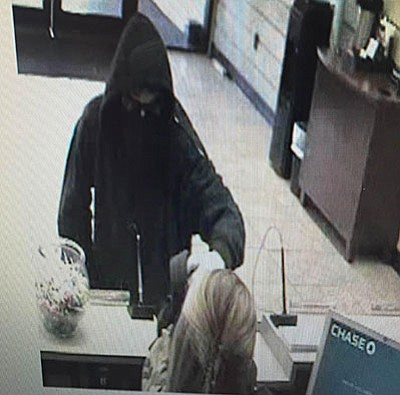 Camp Verde Marshal's deputies are looking for a white male, approximately 20 years of age, standing 5 feet 10 inches tall and weighing approximately 120 pounds who robbed the Camp Verde Chase Bank at approximately 3:15 p.m. Thursday. (Courtesy photo)