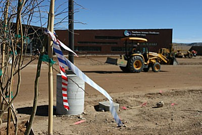 The new Northern Arizona Healthcare facility in Camp Verde is expected to be open in late May, said Rick Peterson, vice president of Professional and Support Services for Northern Arizona Healthcare. (Photo by Bill Helm)