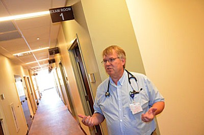 Dr. John Rooney, D.O. gives tour of new Camp Verde Northern Arizona Healthcare – Camp Verde Campus (Photo by Vyto Starinskas/VVN)