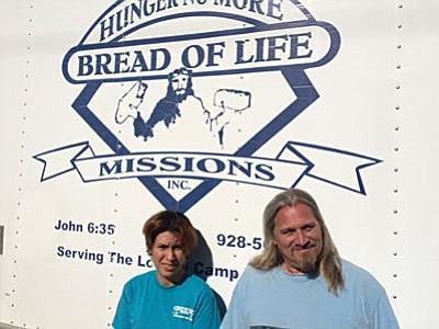 Volunteer Chanell Gonzalez and Director-Duane-Burris