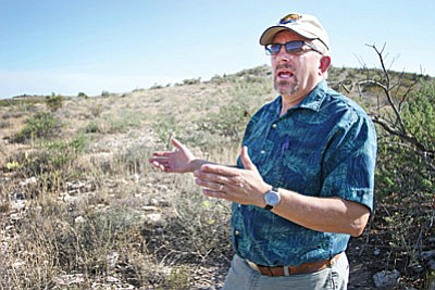 A $78,248 grant awarded by Arizona State Parks would be used for the construction of a trail at the Town's 114-acre property off SR 260 behind the Verde Ranger Station. Pictured, Mike Marshall, Parks and Recreation Division Manager for the Town of Camp Verde. (Photo by Bill Helm)