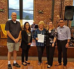 In attendance for the presentation was Sam Blom, V.V. Senior Center Board President; Ana Ortega, Physician Liaison, NAH; Elaine Bremner, Executive Director, VV Senior Center; Celeste Scalf, P.A., NAH-VVMC; and Chris Nez, Field Operations Supervisor, NAH.