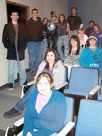 Posing for a group photo is the film team at Chino Valley High School that entered a video they made, and asks everyone to vote online, which could help them win the contest. Review/Salina Sialega
