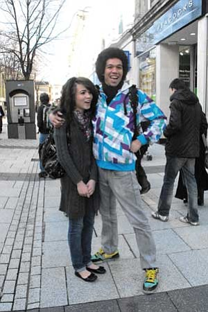 Puja and Carlo Robinson, who grew up in Chino Valley, in downtown Cardiff, Wales.