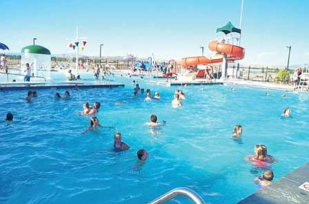 Review file photo Swimmers enjoy the Chino Valley Aquatic Center during a past  summer.