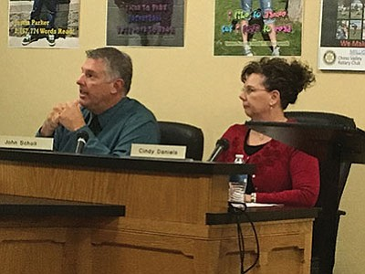 Director of Support Services John Scholl (left) and Assistant Superintendent Cindy Daniels are the finalists to become superintendent of Chino Valley Unified School District.