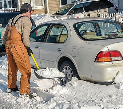 Most concrete is damaged by water seeping in, freezing, then thawing. Removing snow helps. (Metro Creative Graphics)