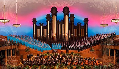 The Mormon Tabernacle Choir and Orchestra at Temple Square.