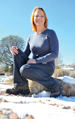 Matt Hinshaw/The Daily Courier<br>Prescott resident Jane Morrill will participate in Operation Mobilization's Freedom Climb up Mount Kilimanjaro in January to raise awareness and money to combat oppression, slavery, exploitation and global trafficking, specifically against women.